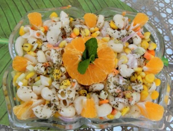 Macaroni & Orange pasta salad
