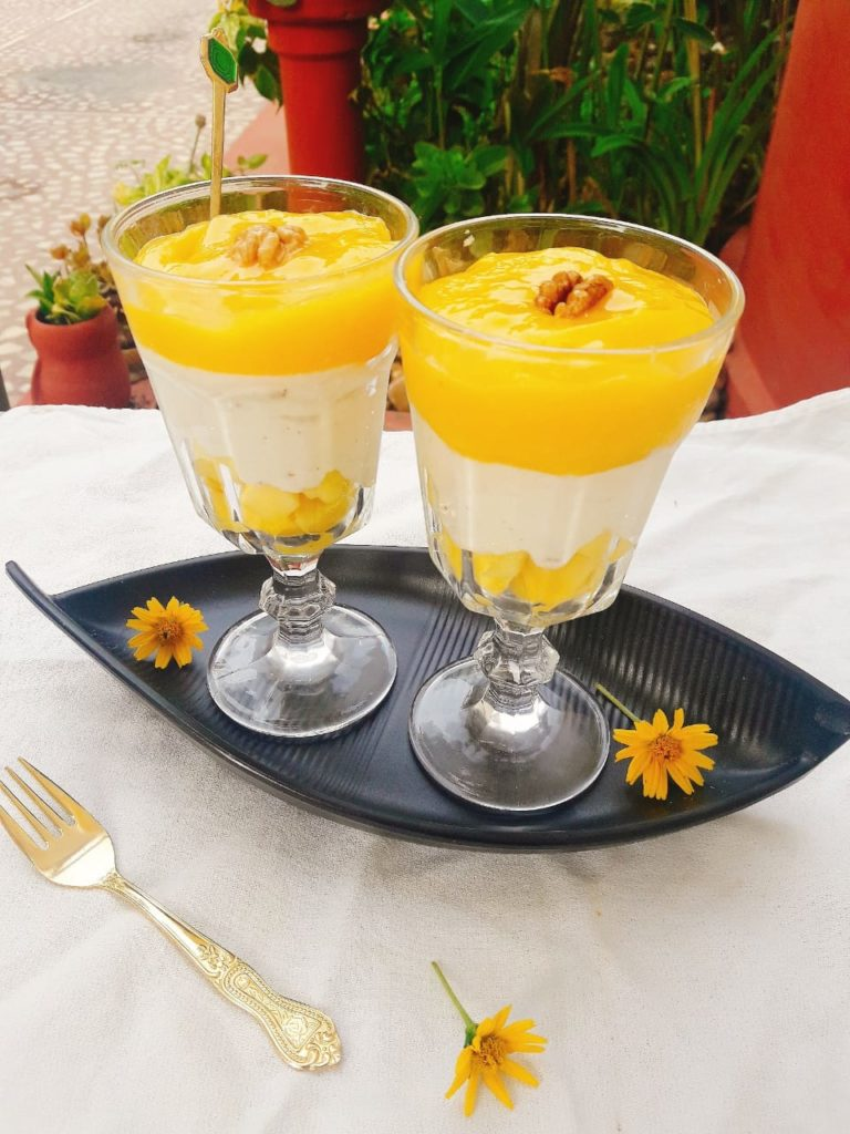 Mango yoghurt Pudding