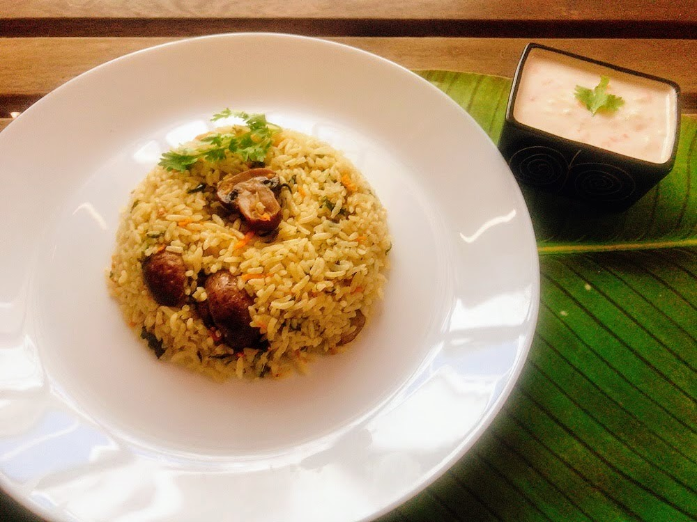 Mushroom Mint rice
