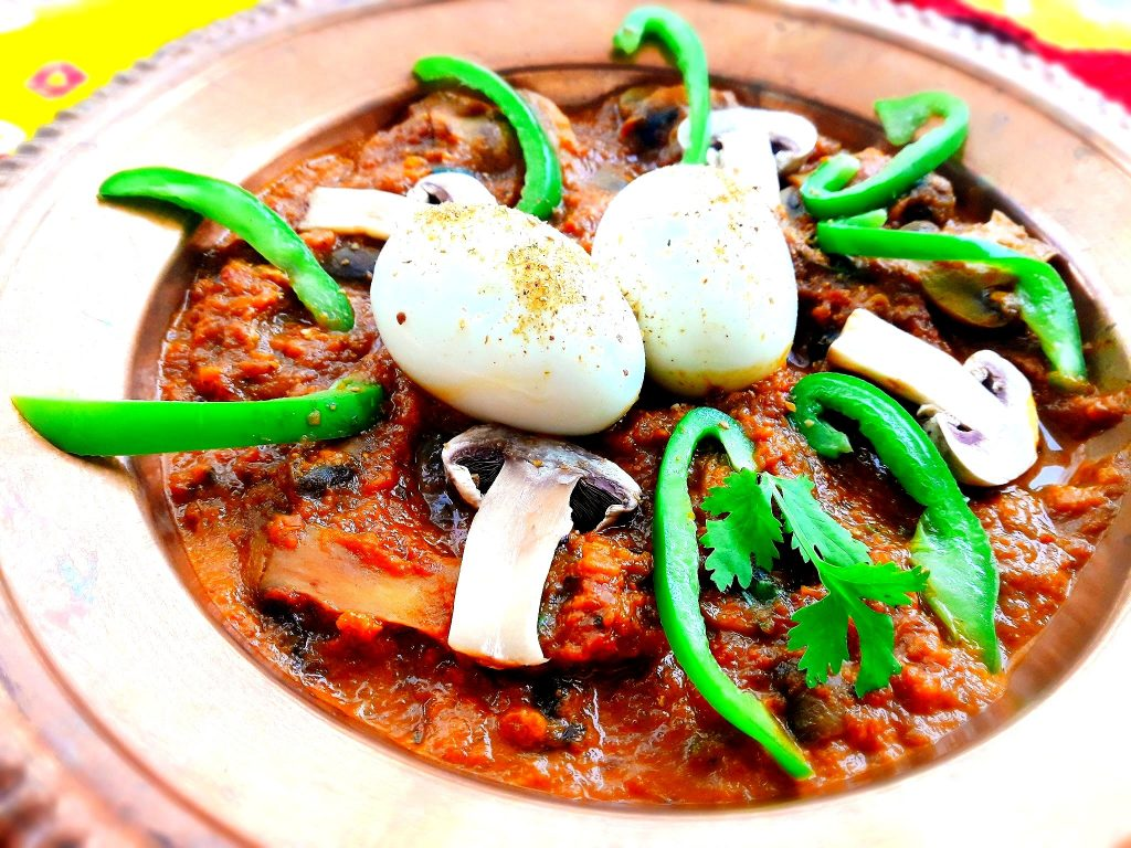 Egg Mushroom Masala Curry Recipe
