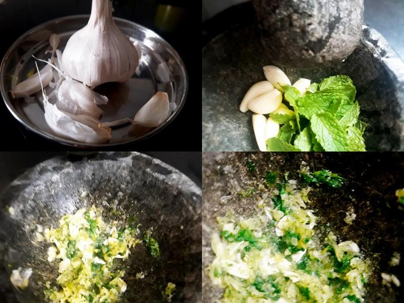 Garlic-Mint Paste