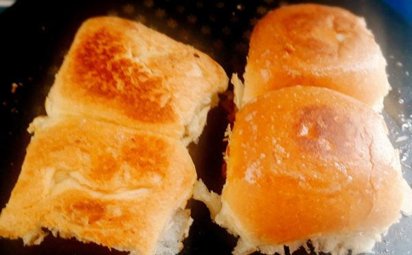 To serve the Masala Pav: 1.Heat the tawa or griddle and smear butter generously on it.Cut the Pav bread and place them on the butter.Toast the pav on both sides and add more butter if you like.
