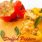 Stuffed Peppers with Farfalle Pasta and Vegetables Recipe
