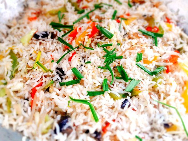 Easy Mushroom Garlic Fried Rice 8