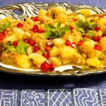 Navratri Vrat Sweet Potato Chat or Shakarkandi Chat
