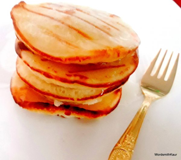 Serve hot with a drizzle of maple syrup or honey as I did and a blob of fresh cream.