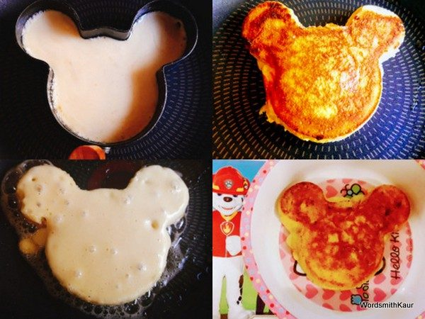 I made a few for Karina, my daughter-in-law and then went about making Mickey Mouse and heart shaped ones for the apple of my eye and he just lapped them up.