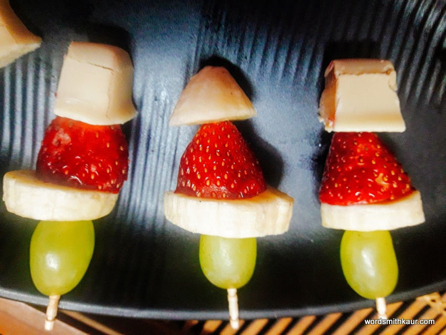 The Grinch/ Fruit Kebabs