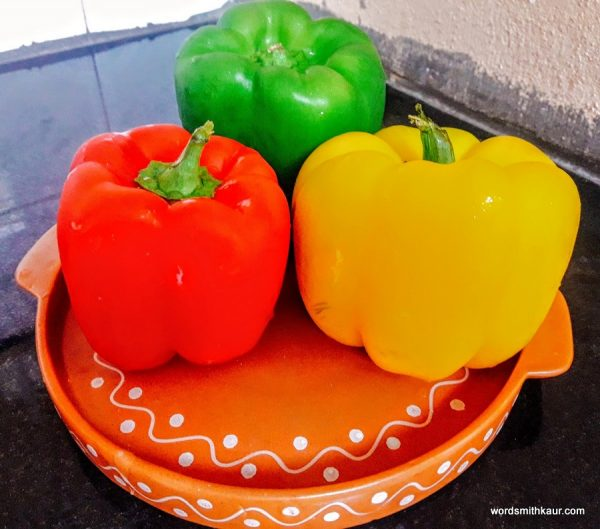 Take the peppers and wash nicely. Now carefully remove the stalk on the top.