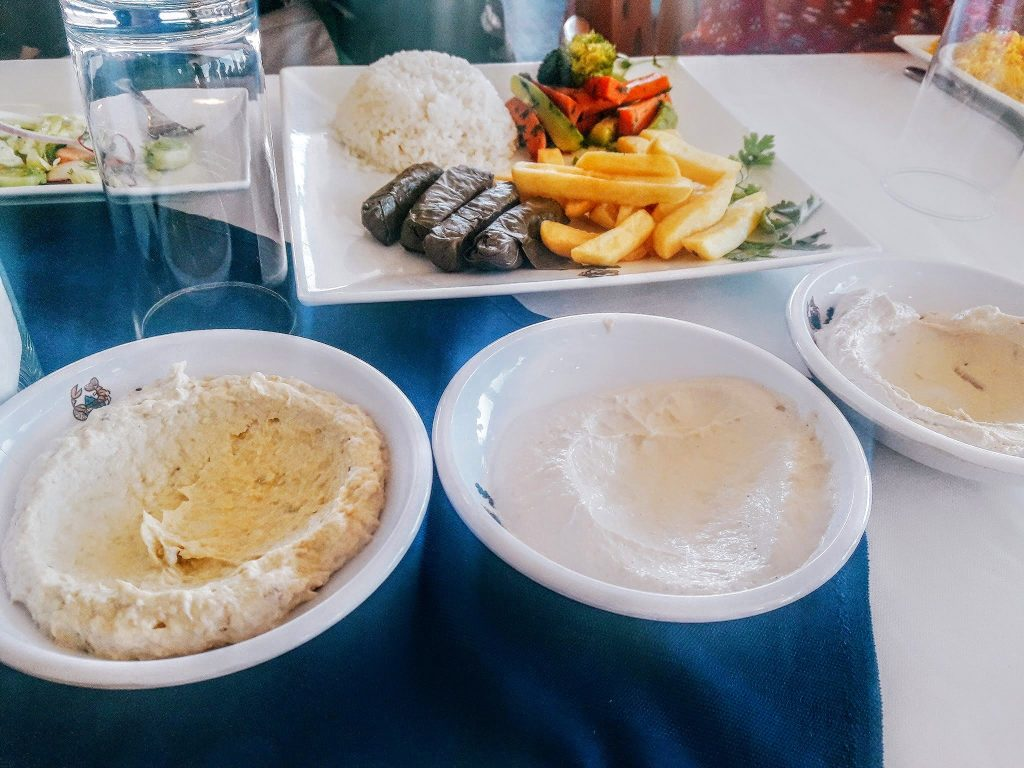 Three different types of Hummus
