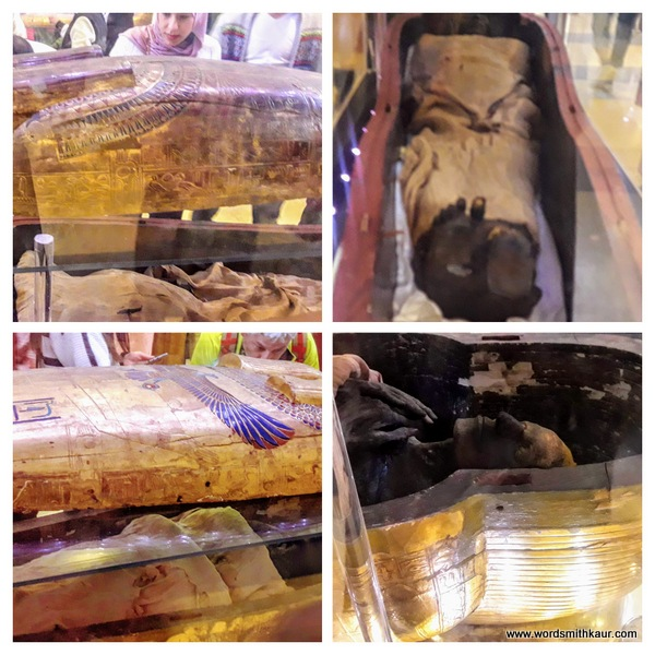 2 mummies which are free for viewing in the museum... Cairo Museum