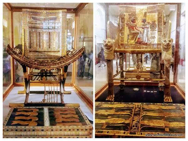 Gold Throne of Tutankhamen Cairo Museum