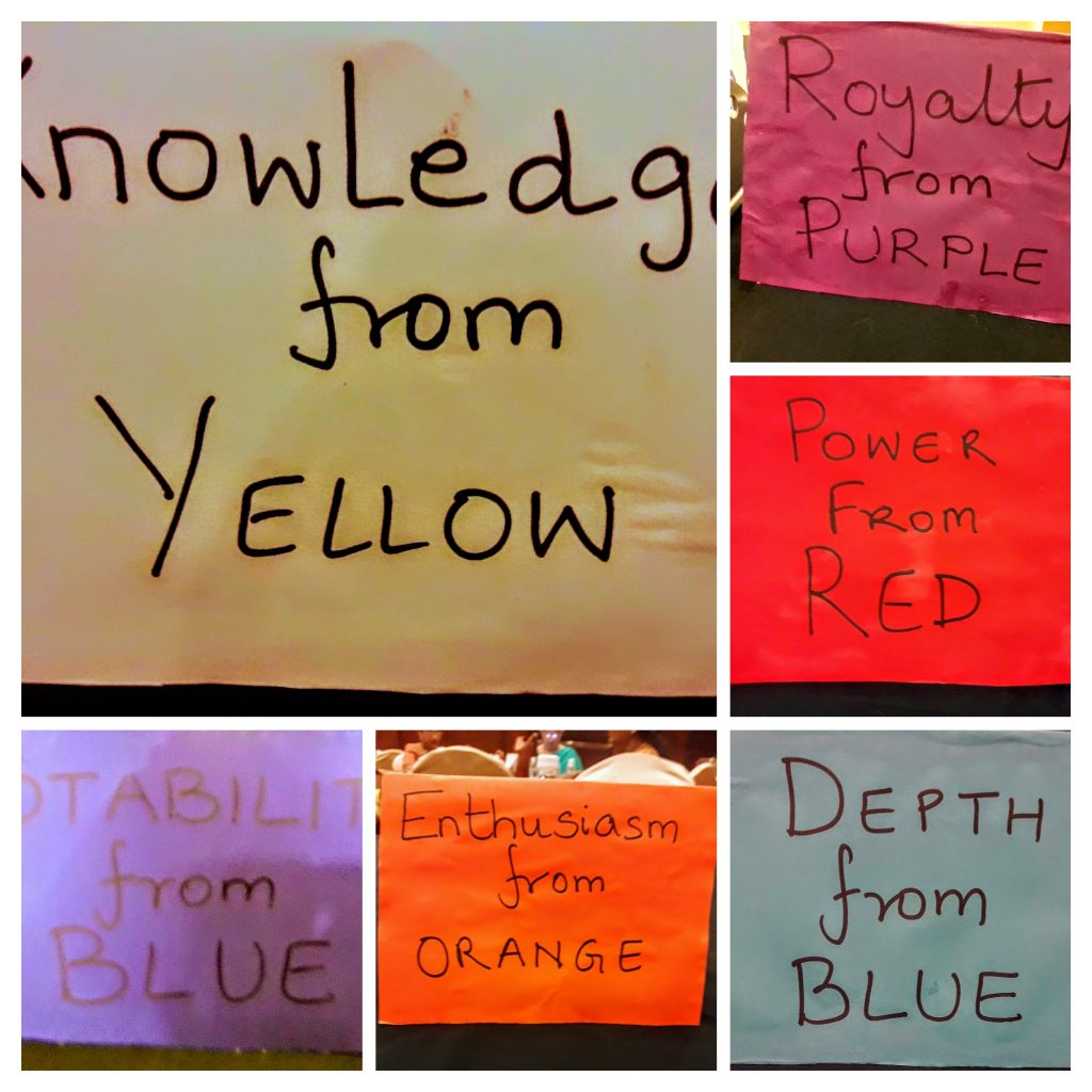 Group names in Colours for Tambola Games with a Holi Theme