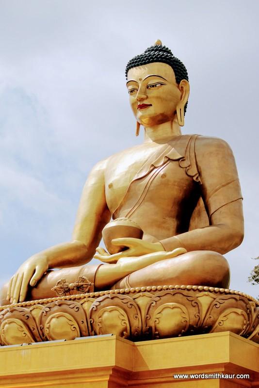 Dordenma Buddha @ Bhutan|Gross National Happiness #BlogchatterA2Z