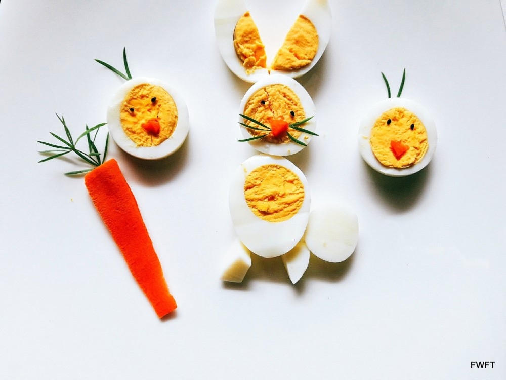 All About Eggs and Yolks| #BlogchatterA2Zks Easter eggs Bunny