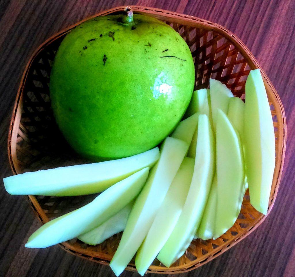 Mango|Kobbari Mammidikai or Coconut Mango| #BlogchatterA2Z