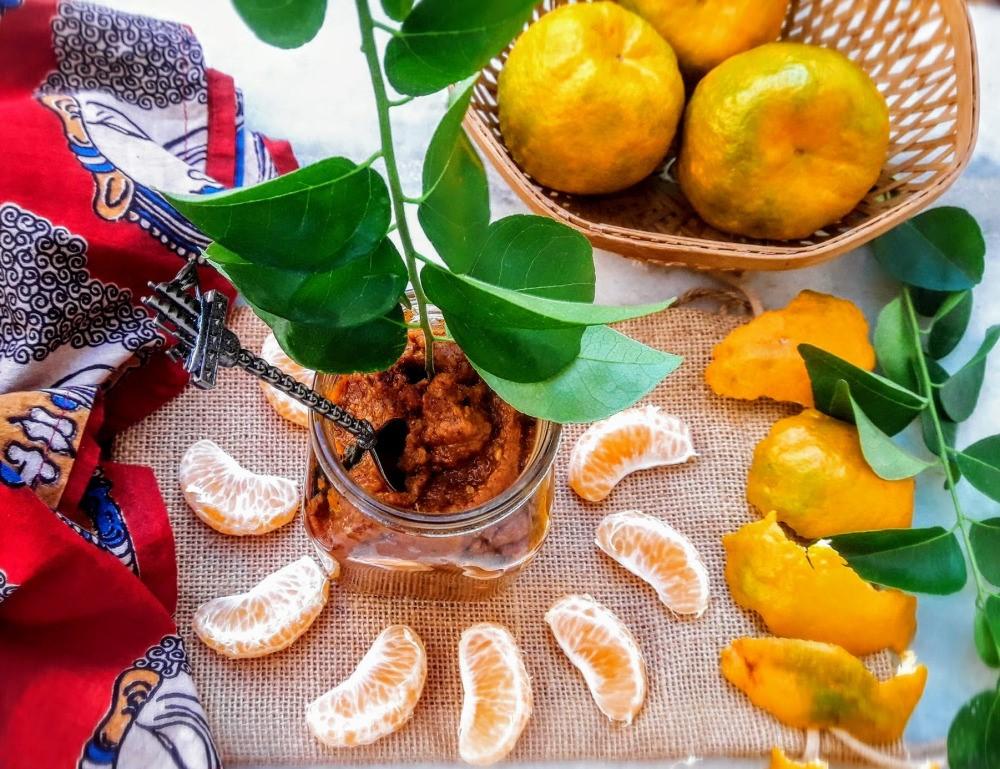 Orange Peel Chutney Or Gojju