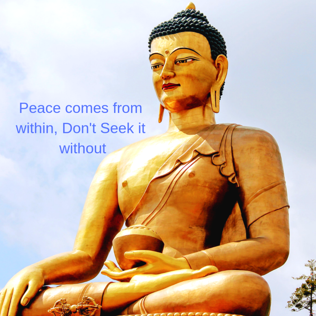 Healthy Ways to Cope with Depression;-Peace comes from within do not seek it without