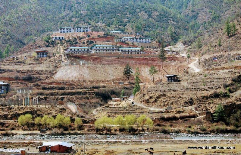 View from Ramada Valley Thimphu Bhutan