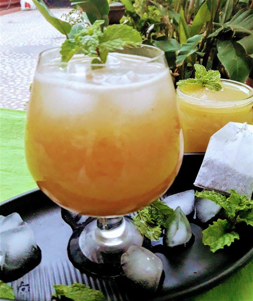 Raw Mango Iced Tea or Aam Panna Iced Tea