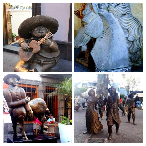 Street sculptures in Guadalajara
