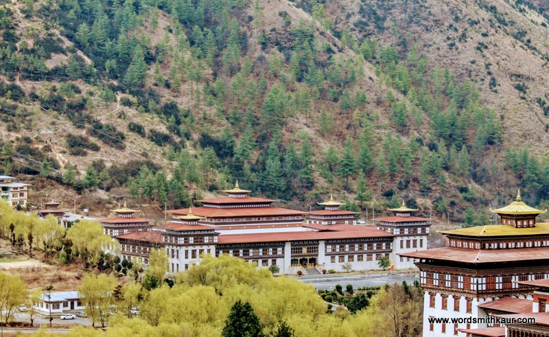 Tashi Chho Dzong Bhutan|Gross National Happiness #BlogchatterA2Z