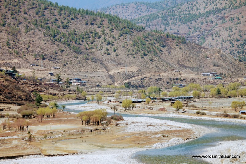 Thimphu River Bhutan|Gross National Happiness #BlogchatterA2Z