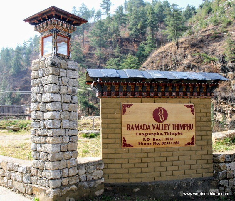 Ramada Valley resort Thimphu Bhutan|Gross National Happiness #BlogchatterA2Z