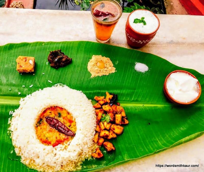 Andhra Meals served on a Banana Leaf