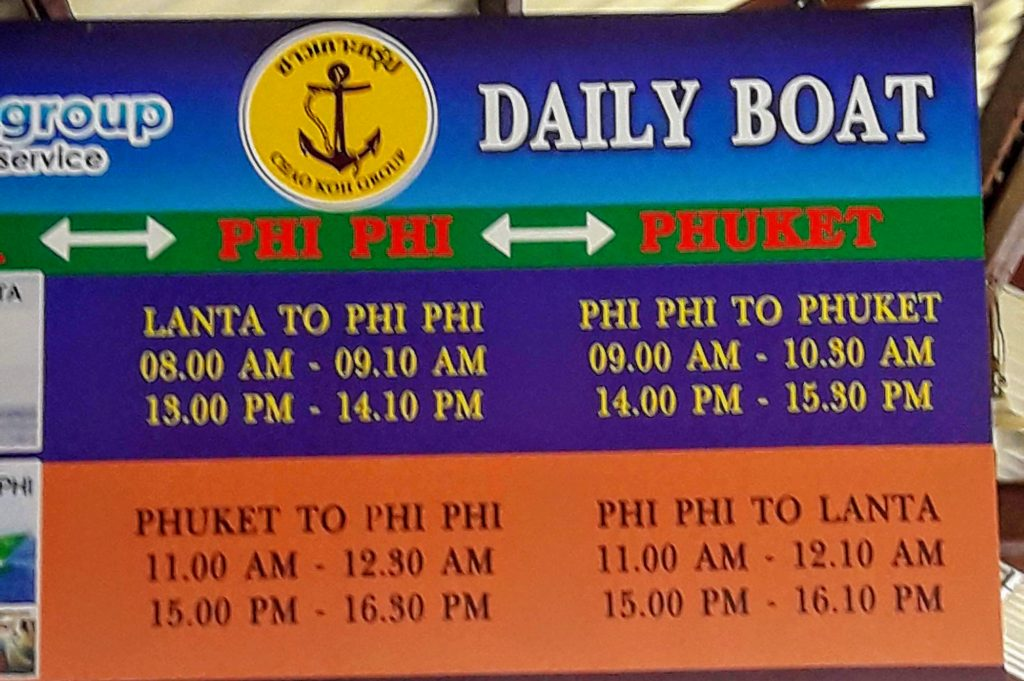 Ticket Prices for Ferry