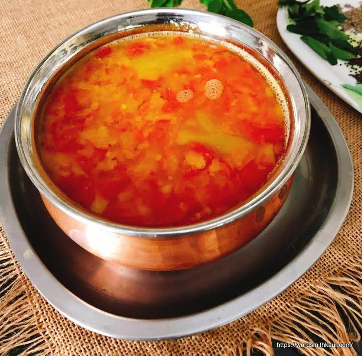 Andhra Tomato Pappu or Tomato Dal