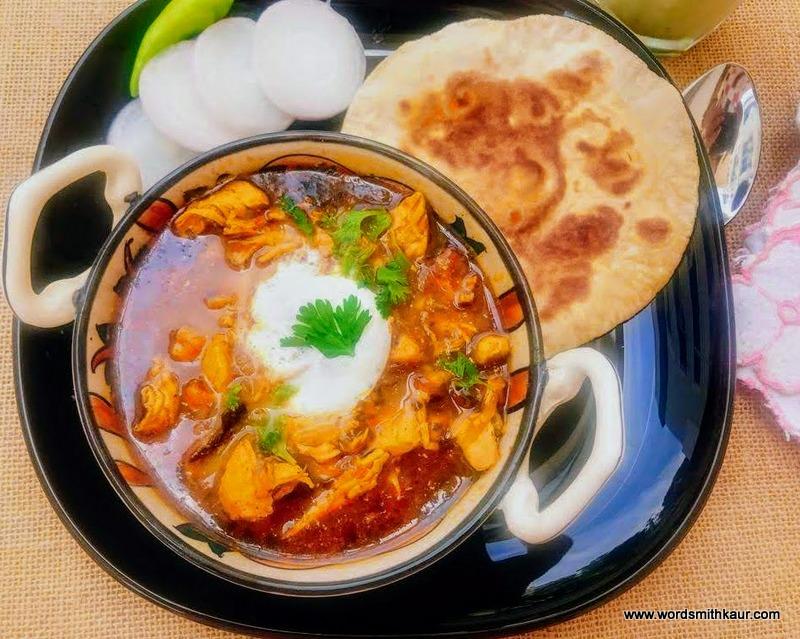 Chicken Bharta Dhaba Style