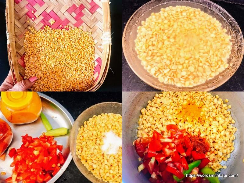 Andhra Tomato Pappu or Tomato Dal Preparation