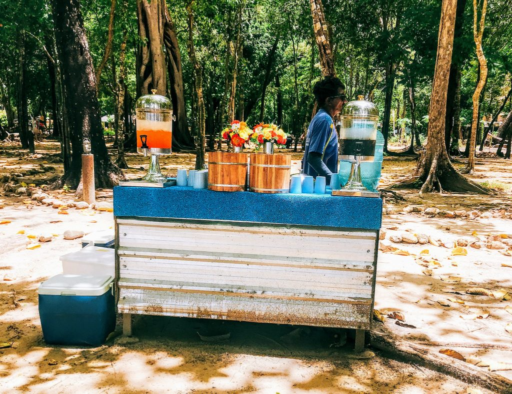 Drinks served at koh Rok Beach