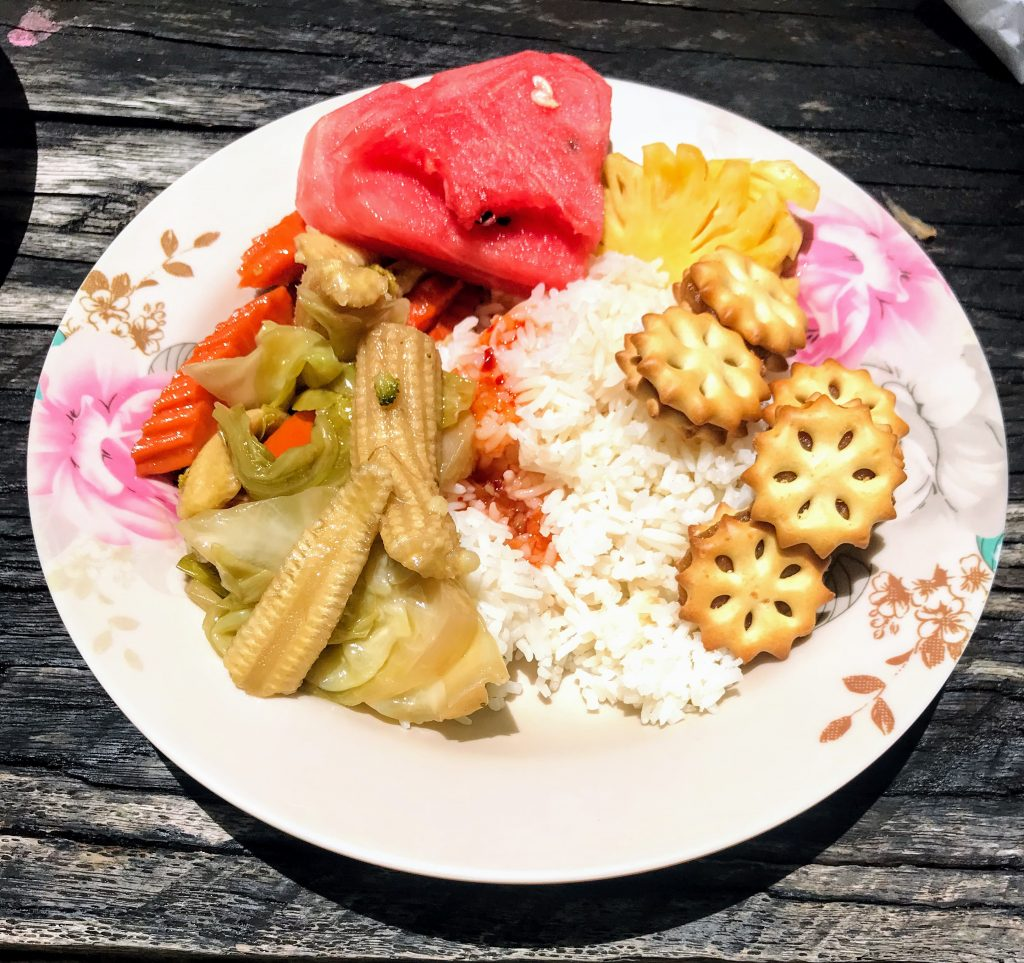 Lunch served at Koh Rok beach