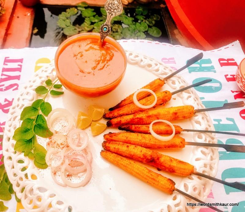 Baby Corn Satay recipe