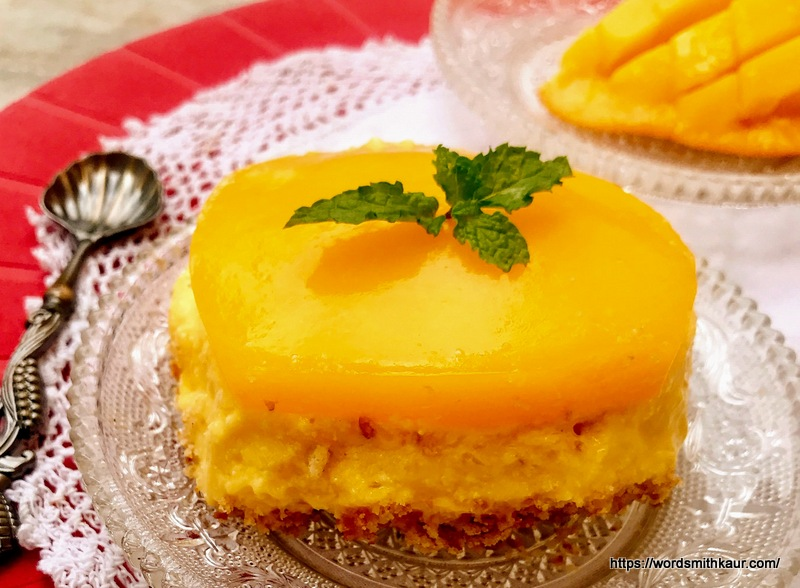 No-Bake Indian Mango Cheesecake