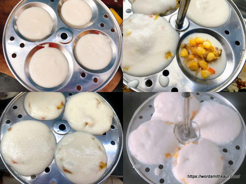 Stuffed Idli Recipe | Sweet Corn/Mushroom  steamer