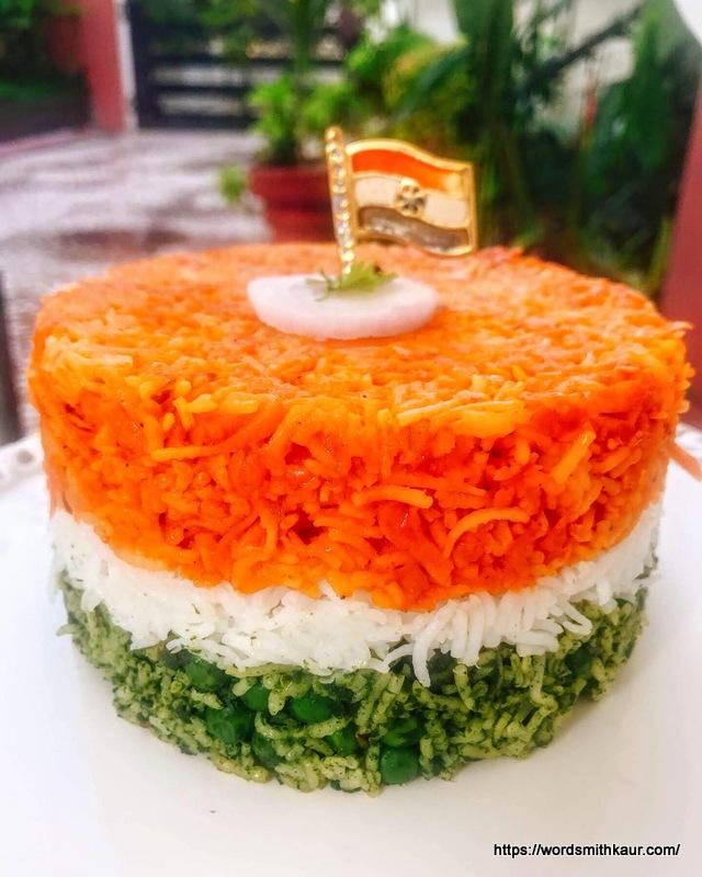 Flavourful Tri-coloured rice   Tiranga Pulao