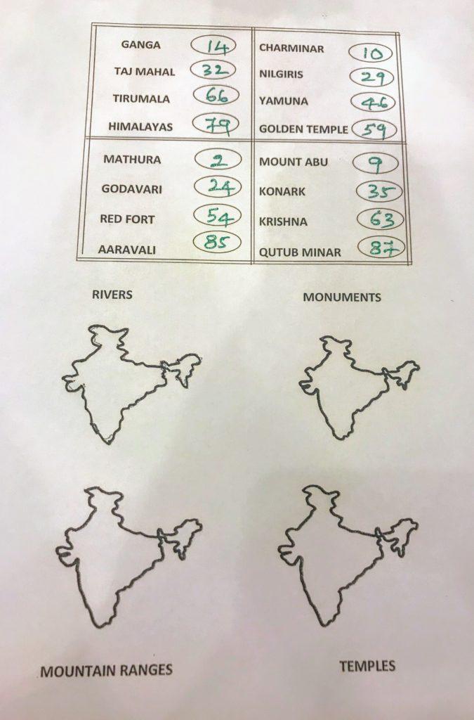 Indian Map Tambola