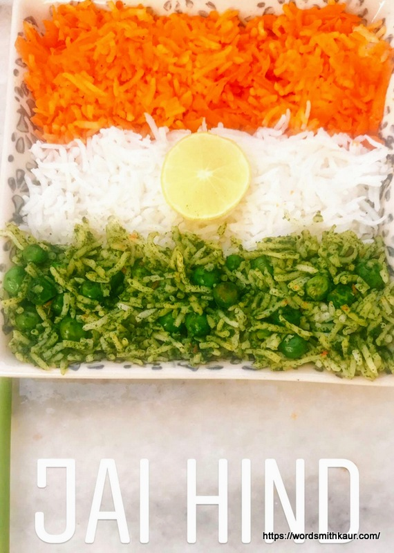 Flavourful Tri-coloured rice | Tiranga Pulao