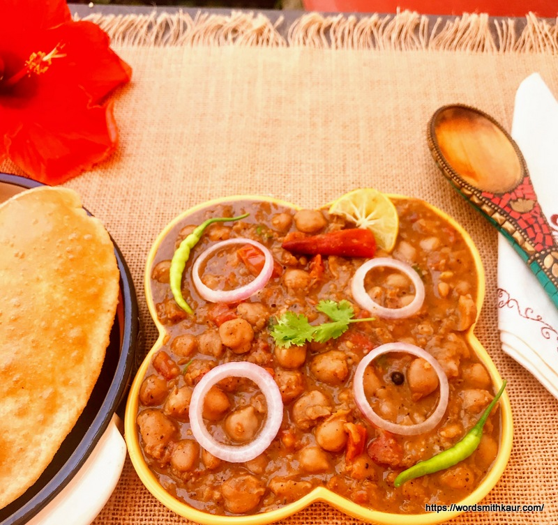 Chole-Bhature Without Garlic and Onion