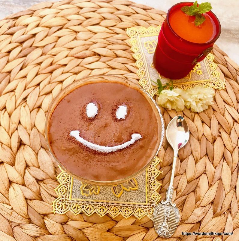 Eggless Chocolate Custard Recipe