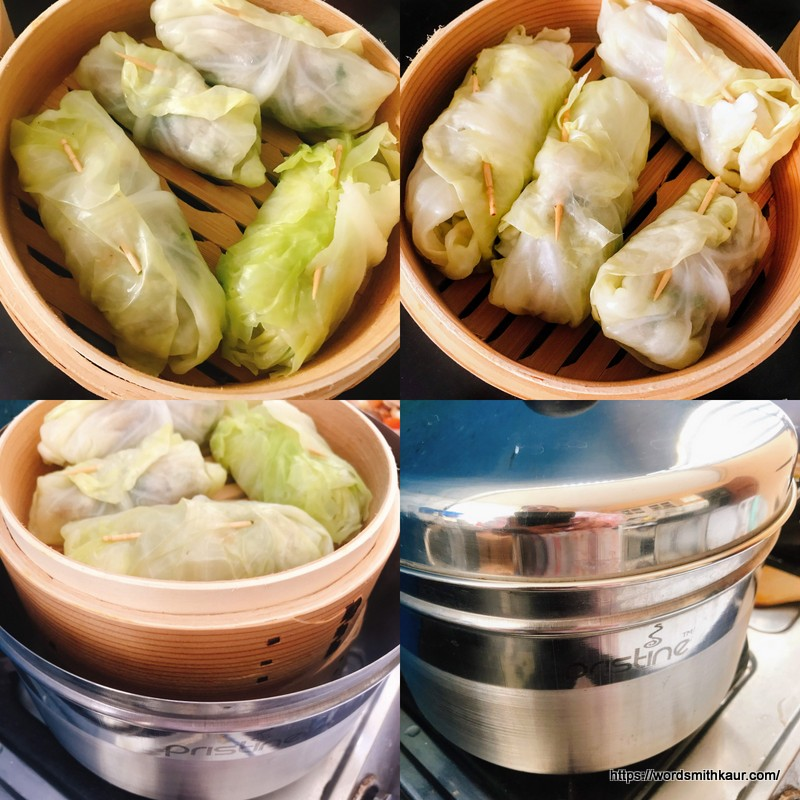 Steamed Cabbage Rolls are ready