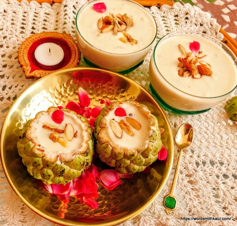 Creamy Sitaphal Pudding | Custard Apple Pudding
