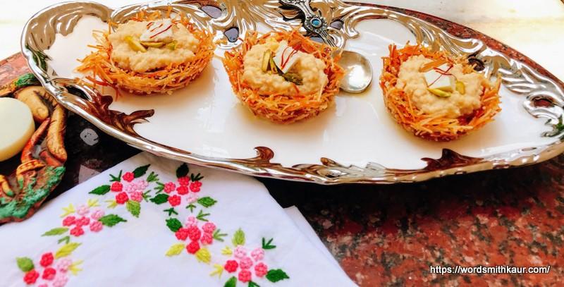 Shahi Paneer Kunafa Pudding
