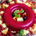 Custard Apple and Strawberry Jelly Dessert
