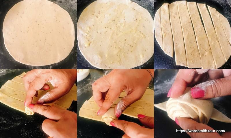 Lachha Paratha rolling technique