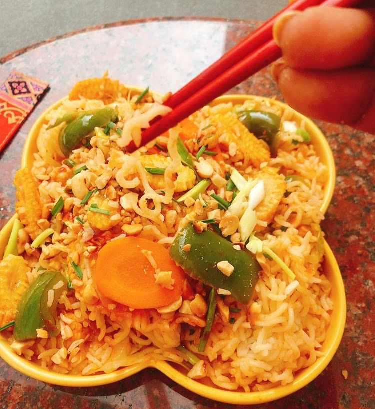 Spicy Noodles & Fried Rice Bowl Recipe