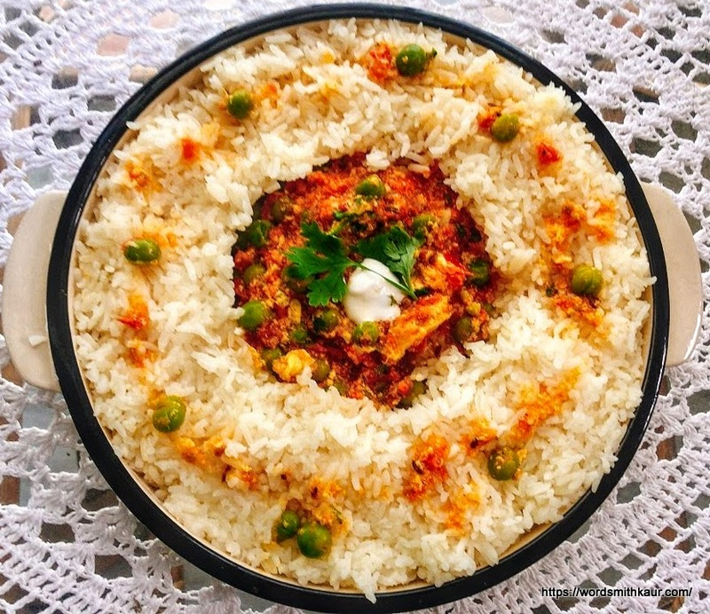 Malai ki sabzi with Rice